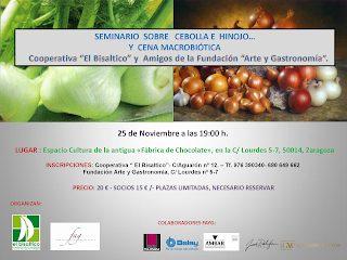 Seminario y degustación de la cebolla y el hinojo (viernes, 25)