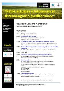 """Jornada """"Retos actuales y futuros en el sistema agrario mediterráneo"""" (martes, 22)"""