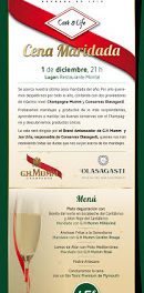 Cena maridada con Champagne Mumm y Conservas Olasagasti (jueves, 1)