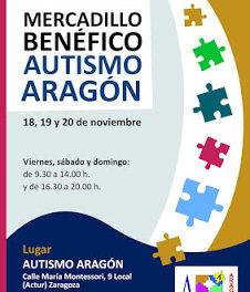 Mercadillo benéfico de Autismo Aragón (del 18 al 20)