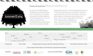 Proyección de 'Sustainable Eating', Alimentación sostenible (viernes, 2)