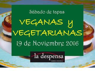 LA MUELA. Tapas veganas y vegetarianas (sábado, 19)