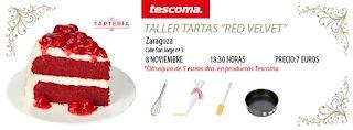 """Taller de tartas """"red velvet"""" (martes, 8)"""