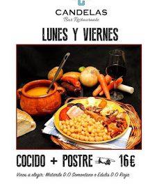 Cocido en El Candelas (lunes y miércoles de temporada)