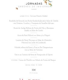 Jornadas Sabores de invierno, por 30 euros, en EL FORO (diciembre)