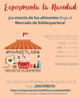 Taller de ciencia y alimentos para niños MarketLab (jueves, 5)