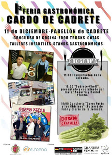 CADRETE. Feria gastronómica del cardo con FOOD TRUCKS (domingo, 11)