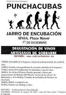 AÍNSA. Feria del vino artesano Punchacubas (sábado, 17)