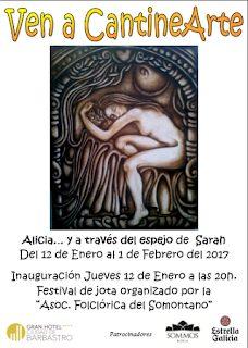 """BARBASTRO. Exposición """"Alicia… a través del espejo"""" (hasta el 1 de febrero)"""