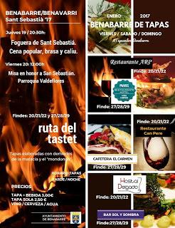 "BENABARRE. Ruta del Tastet, ""Benabarre de Tapas"" (fines de semana del 20 y el 27)"