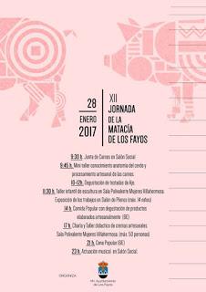 LOS FAYOS. Jornadas de la Matacía (sábado, 28)