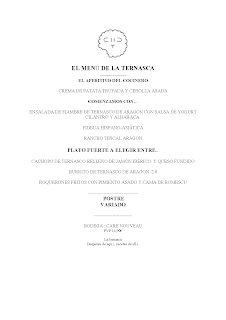 Nuevo menú semanal en LA TERNASCA, por 14,90 euros (del martes, 31 al 3 de febrero)