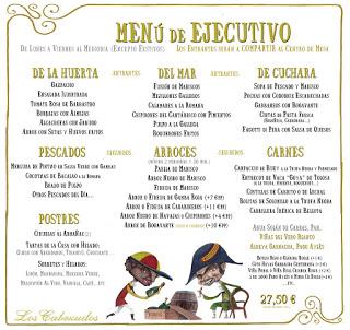 Menú de Ejecutivo en LOS CABEZUDOS por 30,25 euros