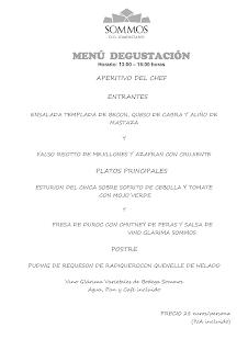 BARBASTRO. Menú degustación en RESTAURANTE SOMMOS, por 28 euros (enero y febrero)