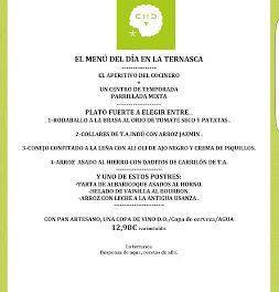 Nuevo menú SEMANAL en LA TERNASCA, por 12,90 euros (enero)
