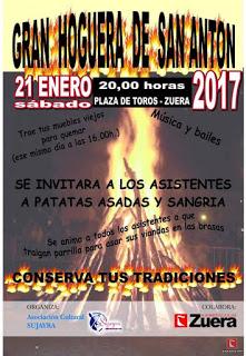 ZUERA. Hoguera de san Antón (sábado, 21)
