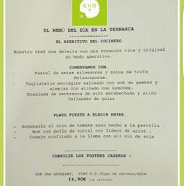 Nuevo menú diario en LA TERNASCA, por 14,90 euros (enero)