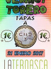 Vermú torero en LA TERNASCA, tapas a un euro (sábado, 21)