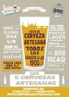 Cata de cinco cervezas artesanas en Juan Sebastián Bar (todos los sábados)