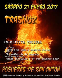 TRASMOZ. Hoguera de San Antón (sábado, 21)