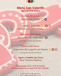 Menú san Valentín (del 11 al 18)