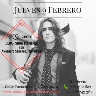 Cena y flamenco (jueves, 9)