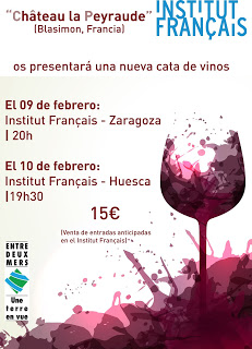 "HUESCA. Cata de vino ""Châteu la Peyraude"" (viernes, 10)"