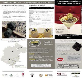 TERUEL. V Jornadas Gastronómicas de la trufa negra Teruel (hasta el 5 de marzo)