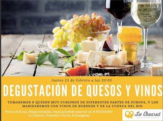 Degustación de quesos y vinos (jueves, 23)