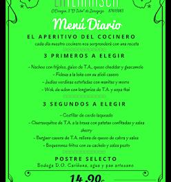 Nuevo menú semanal en LA TERNASCA, por 14,90 euros (del 21 al 24 de febrero)