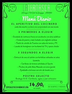 Nuevo menú semanal en LA TERNASCA, por 14,90 euros (del 28 de febrero al 3 de marzo)