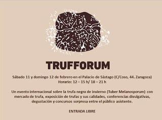 "Jornadas sobre la trufa ""Trufforum"" (sábado, 11, y domingo, 12)"