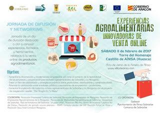 """AINSA. Jornada """"Experiencias agroalimentarias innovadoras de venta on line (sábado, 11)"""