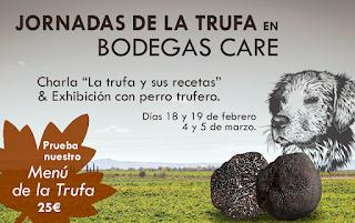 CARIÑENA. Los aromas de la trufa en Bodegas Care (sábado, 4, y domingo, 5)