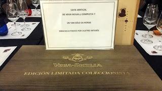 Cata vertical de Vega Sicilia (jueves, 16)