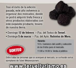 RUBIELOS DE MORA. Mercado de trufa fresca (domingo, 5)