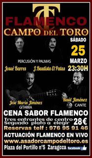 Cena menú flamenco (viernes, 25)