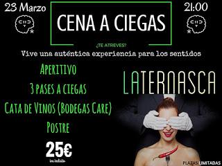 Cena a ciegas en LA TERNASCA, por 25 euros (jueves, 23)