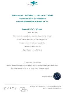 Celebris Epicúrea en RESTAURANTE CELEBRIS, con el restaurante Les Moles (jueves y viernes, 6 y 7)