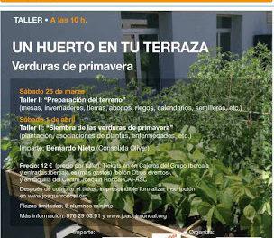 """Taller """"Un huerto en tu terraza"""" (sábados, 25 y 1)"""