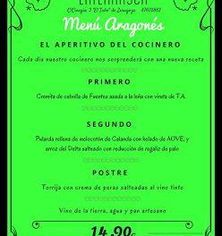 Nuevo menú semanal aragonés en LA TERNASCA, por 14,90 euros (del 27 al 30 de marzo)