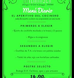 Nuevo menú semanal en LA TERNASCA, por 14,90 euros (del 8 al 10 de marzo)
