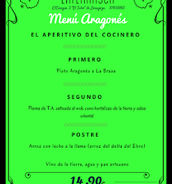 Nuevo menú semanal aragonés en LA TERNASCA, por 14,90 euros (del 21 al 24 de marzo)
