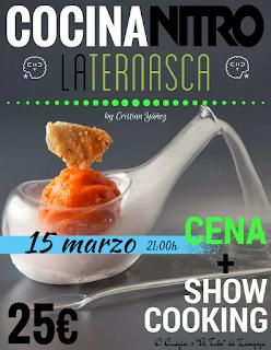 Show Cooking con nitrógeno líquido en LA TERNASCA, por 25 euros (miércoles, 15)