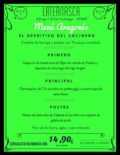 Nuevo menú semanal en LA TERNASCA, por 14,90 euros (del 14 al 17 de marzo)