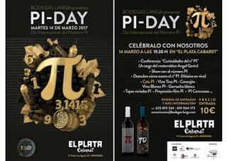 Día de Pi, con vino y tapas (martes, 14)