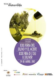 CALACEITE. XXX Feria del olivo y el aceite (sábado y domingo, 29 y 30)