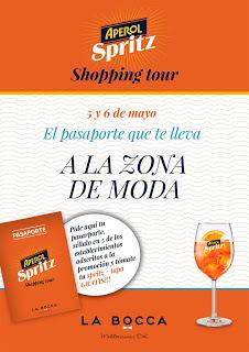 Aperol Shopping Tour (viernes y sábado, 5 y 6 d emayo)