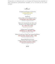 Cata cena maridada con vinos Pesquera en LOS CABEZUDOS (jueves, 20)