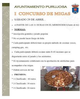 PURUJOSA. I Concurso de Migas (sábado, 29)